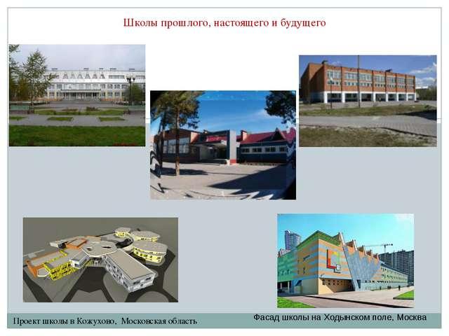 Школы прошлого, настоящего и будущего Проект школы в Кожухово, Московская обл...