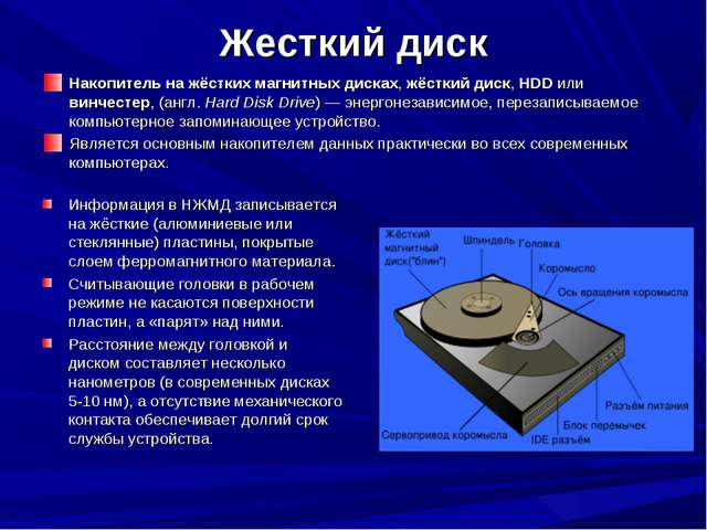 Жесткий диск Накопитель на жёстких магнитных дисках, жёсткий диск, HDD или ви...
