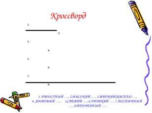 Кроссворд 1. РАДОСТНЫЙ-…, 2.ВЫСОКИЙ-…, 3.ЖИДКИЙ(КИСЕЛЬ)-…, 4. ЗДОРОВЫЙ-…, 5.С
