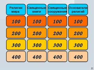 100 100 100 100 200 200 200 200 300 300 300 300 400 400 400 400 Религии мира