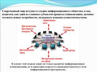 В основе этой модели лежит не только развитие информационных коммуникаций, но