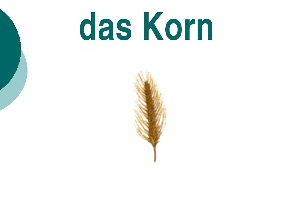das Korn
