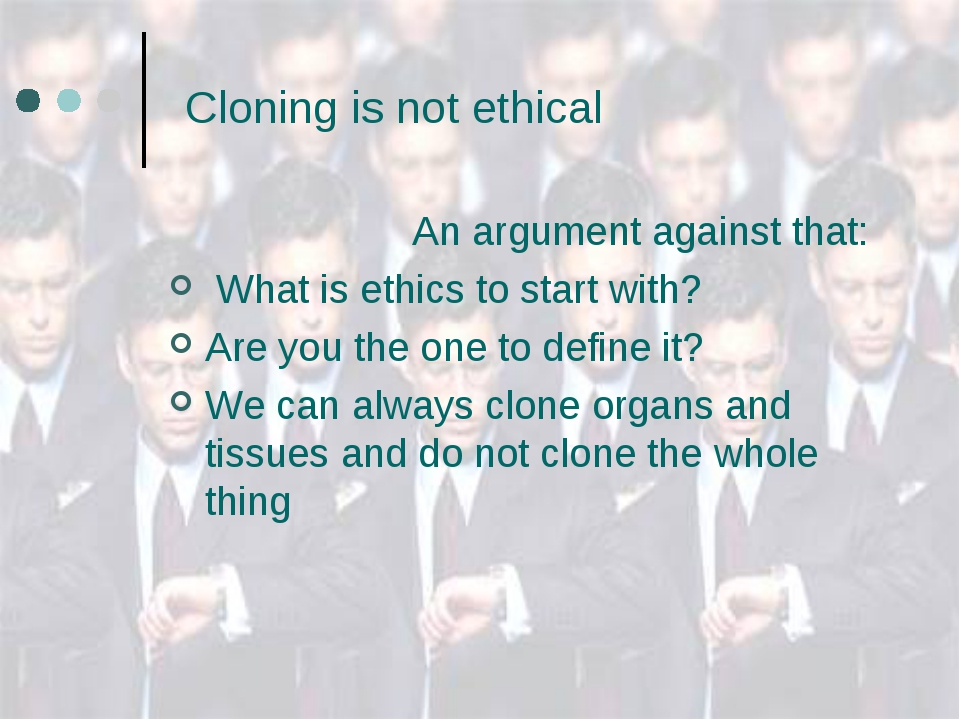Essay about cloning