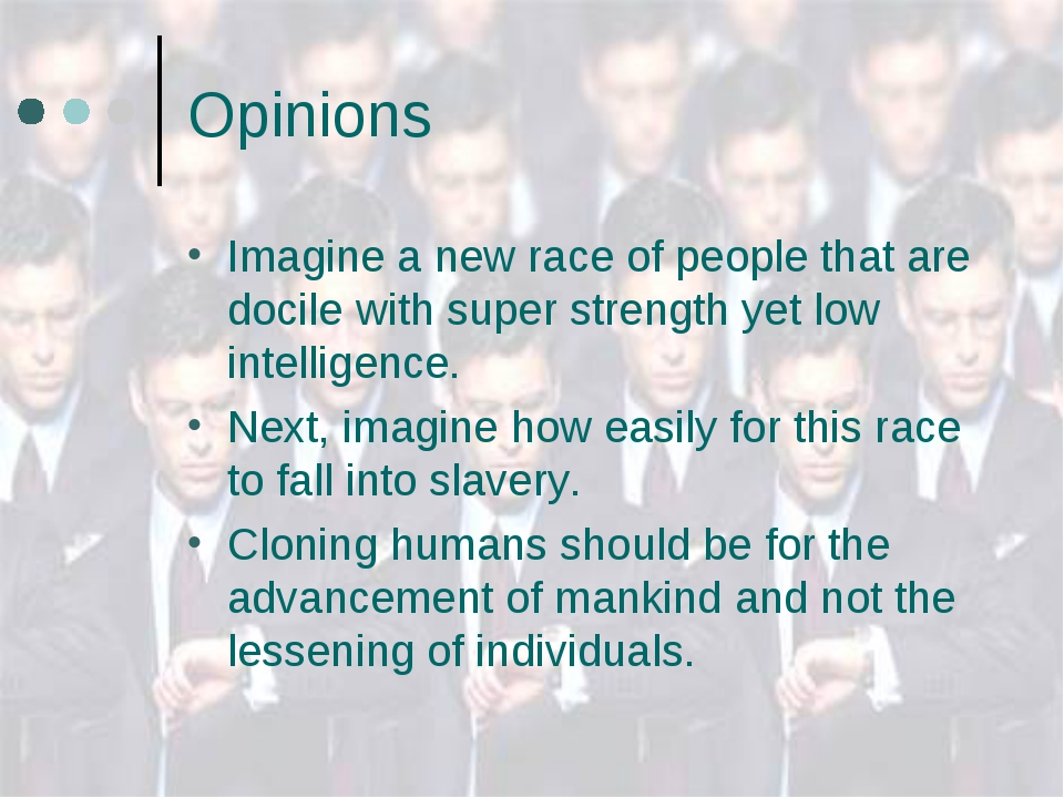 Opinions Imagine a new race of people that are docile with super strength yet...