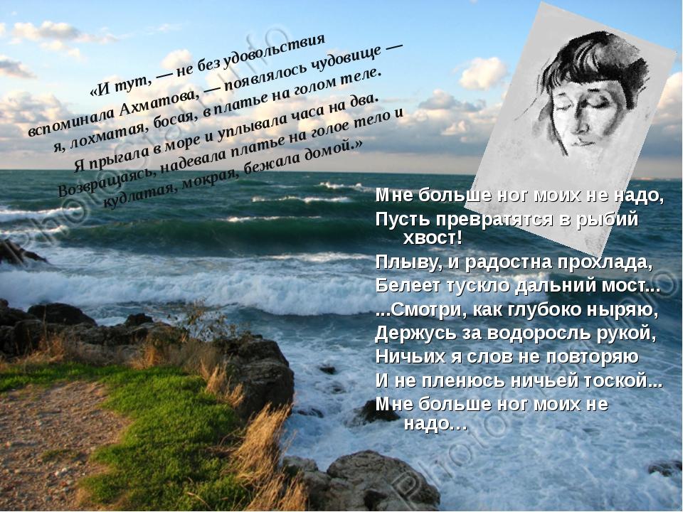 «И тут, — не без удовольствия вспоминала Ахматова, — появлялось чудовище — я,...