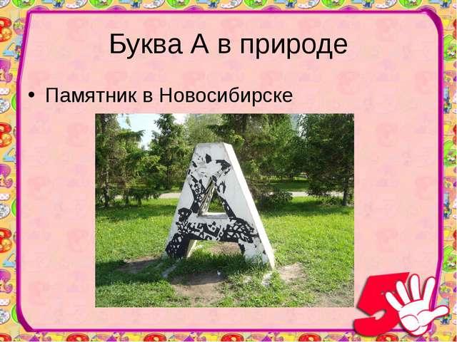 Буква А в природе Памятник в Новосибирске
