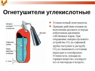 Огнетушители углекислотные Углекислотный огнетушитель Принцип действия основа