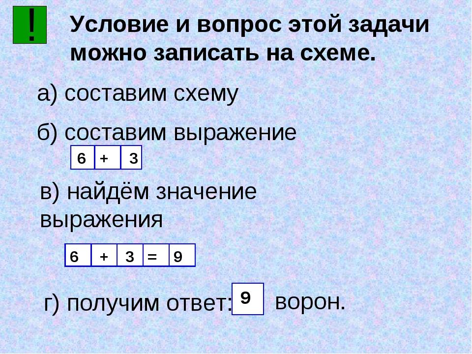 ! Условие и вопрос этой задачи можно записать на схеме. а) составим схему б)...