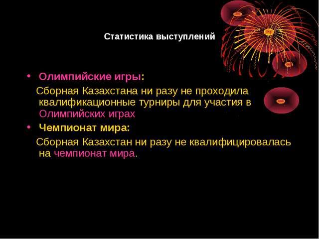 Статистика выступлений Олимпийские игры: Сборная Казахстана ни разу не проход...
