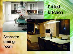 Fitted kitchen Separate dining-room