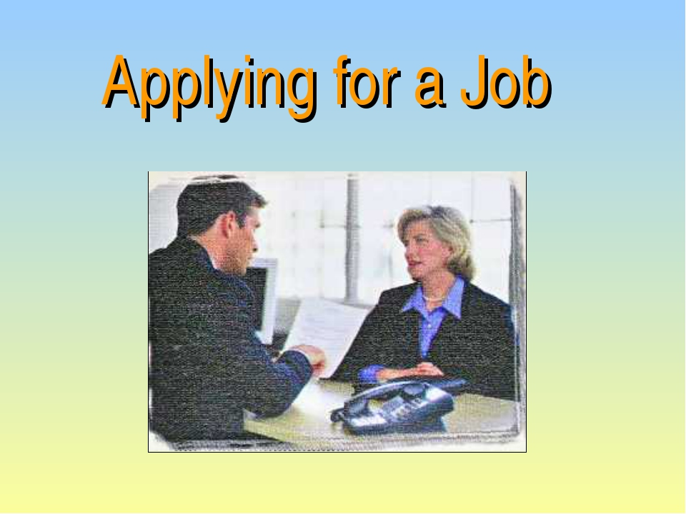 Applying for a Job