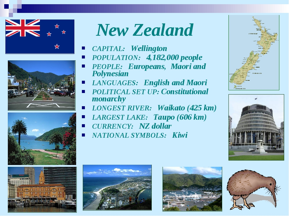 New Zealand CAPITAL: Wellington POPULATION: 4,182,000 people PEOPLE: European...