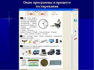 Окно программы в процессе тестирования