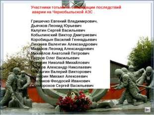 Участники тотьмичи ликвидации последствий аварии на Чернобыльской АЭС . Грише