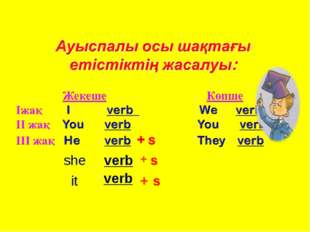 she it   verb  verb + + s s