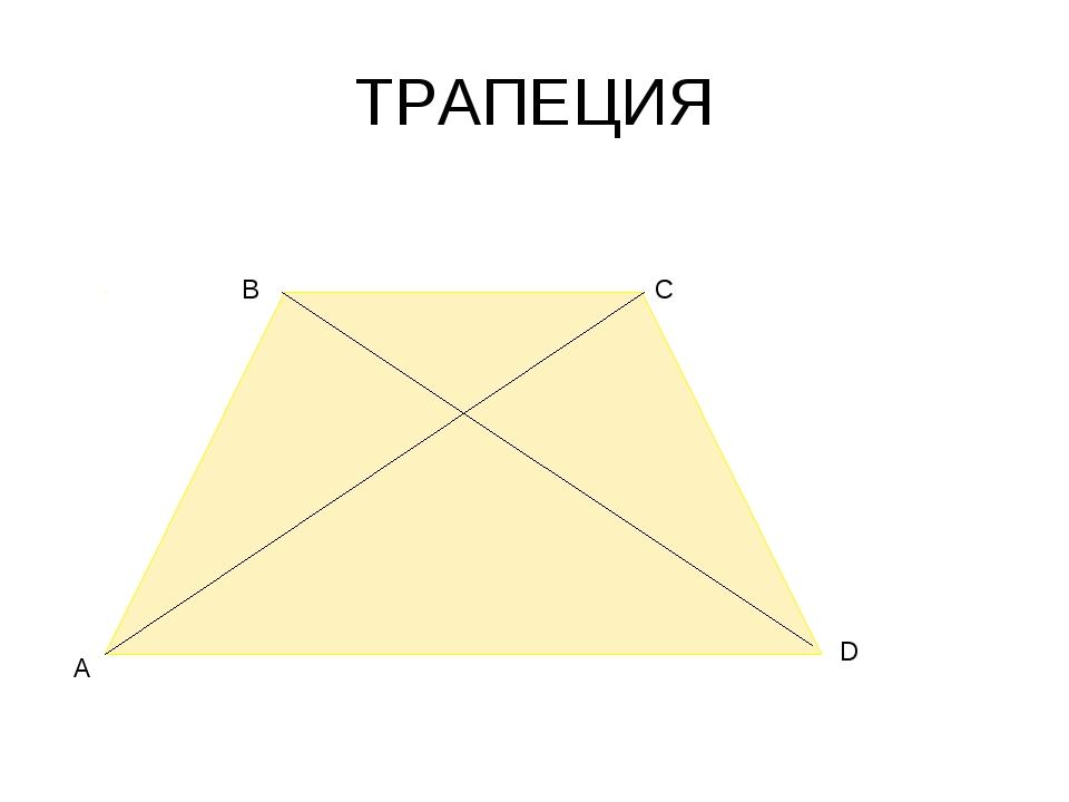 ТРАПЕЦИЯ А В С D