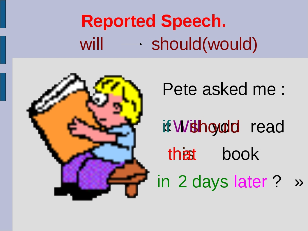 Reported Speech.