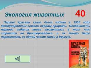 Экология животных       40