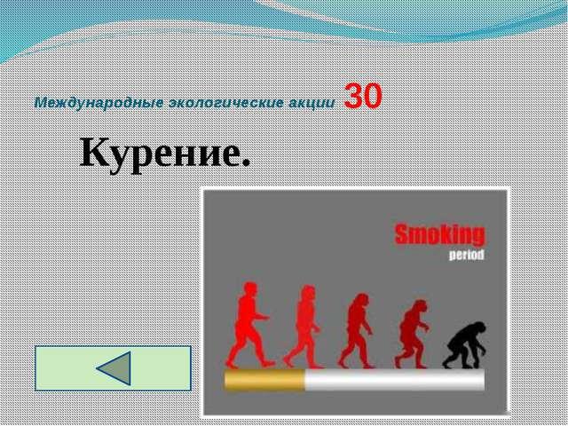 Международные экологические акции  30 Курение.