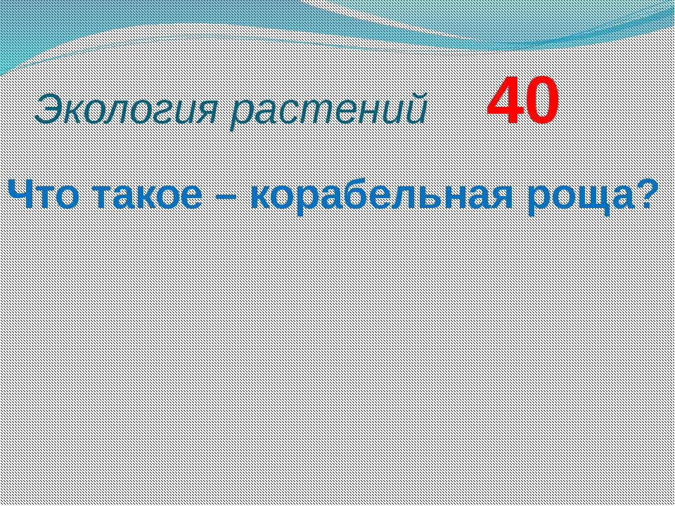Экология растений     40
