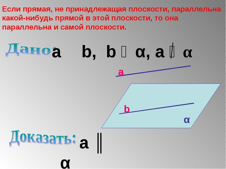 Если прямая, не принадлежащая плоскости, параллельна какой-нибудь прямой в э...