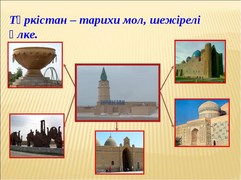 Түркістан – тарихи мол, шежірелі өлке.