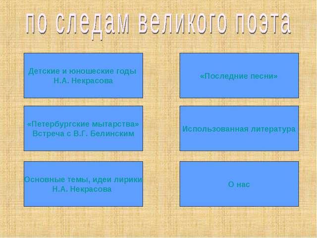 Использованная литература «Последние песни» «Петербургские мытарства» Встреча...