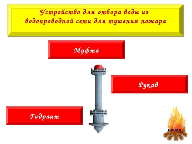 Муфта Устройство для отбора воды из водопроводной сети для тушения пожара Рук...