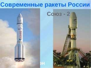 Протон Союз - 2 Современные ракеты России