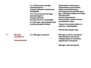 2.2. Логические методы (организация и осуществление логических операций) 2.
