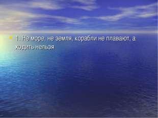 1. Не море, не земля, корабли не плавают, а ходить нельзя