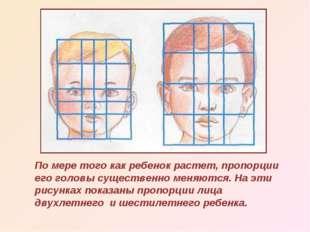 По мере того как ребенок растет, пропорции его головы существенно меняются. Н
