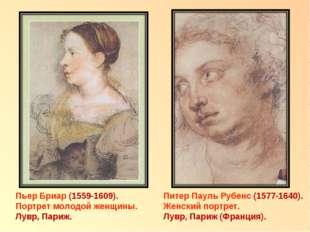 Пьер Бриар (1559-1609). Портрет молодой женщины. Лувр, Париж. Питер Пауль Руб