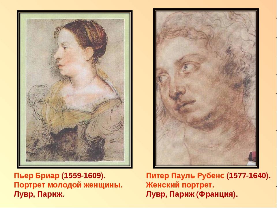 Пьер Бриар (1559-1609). Портрет молодой женщины. Лувр, Париж. Питер Пауль Руб...