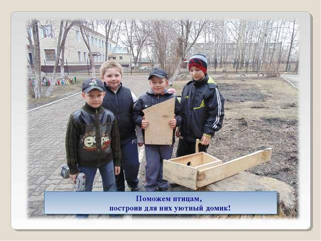 Поможем птицам, построив для них уютный домик!