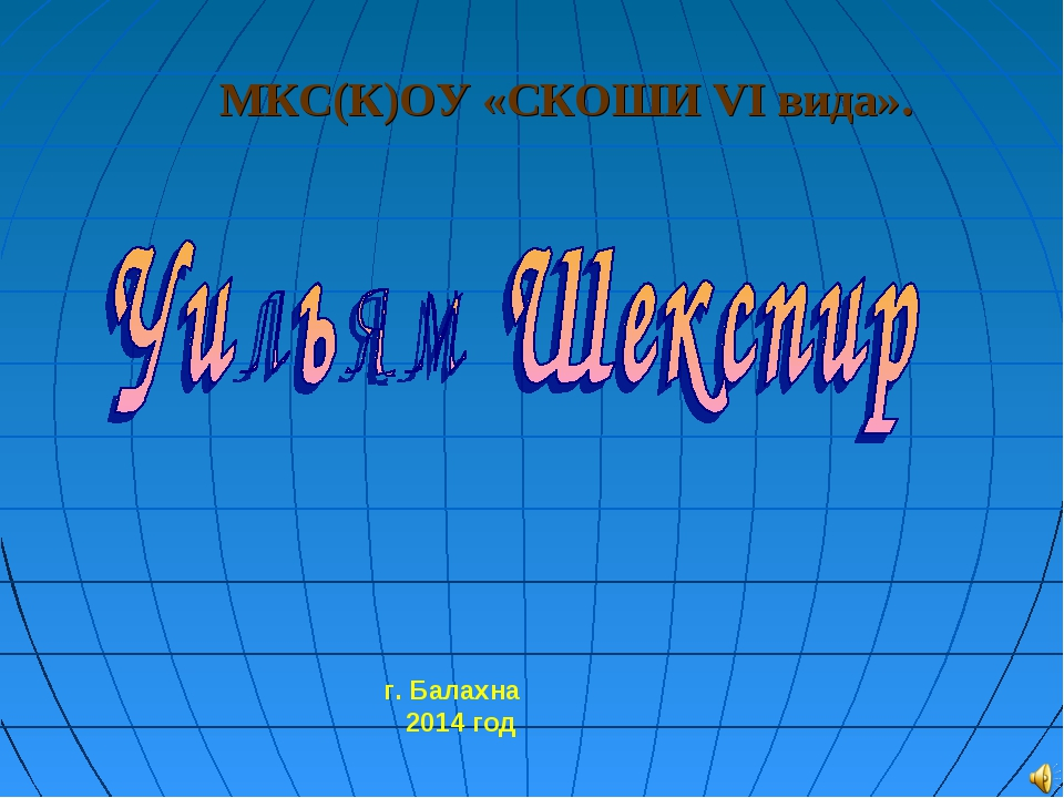 МКС(К)ОУ «СКОШИ VI вида». г. Балахна 2014 год