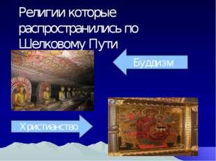 Религии которые распространились по Шелковому Пути Буддизм Христианство