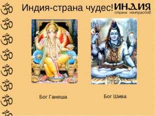 Индия-страна чудес! Бог Ганеша Бог Шива