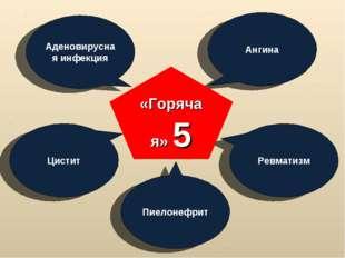Аденовирусная инфекция Ангина Ревматизм Цистит Пиелонефрит «Горячая» 5