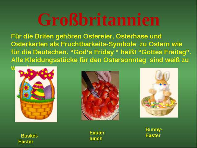 Großbritannien Für die Briten gehören Ostereier, Osterhase und Osterkarten al...
