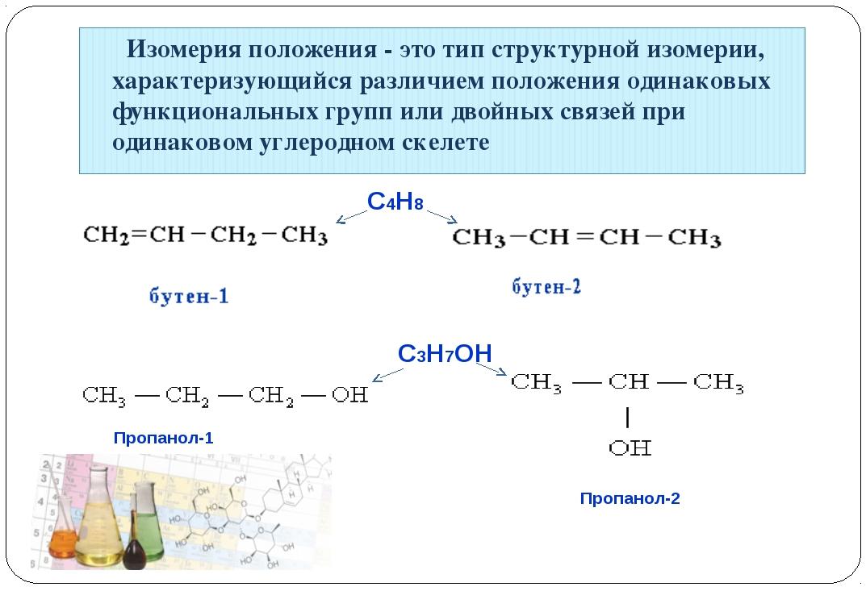 Пропанол-1 Пропанол-2 C4H8 C3H7OH