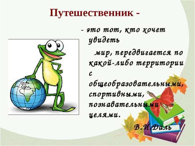 Путешественник - - это тот, кто хочет увидеть мир, передвигается по какой-либ...