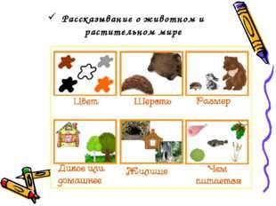 Рассказывание о животном и растительном мире