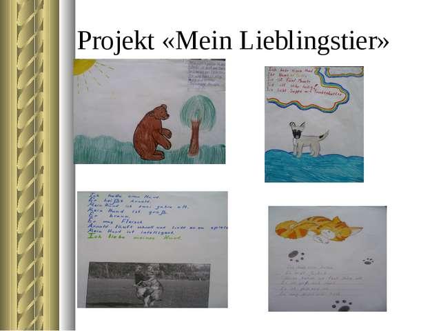 Projekt «Mein Lieblingstier»