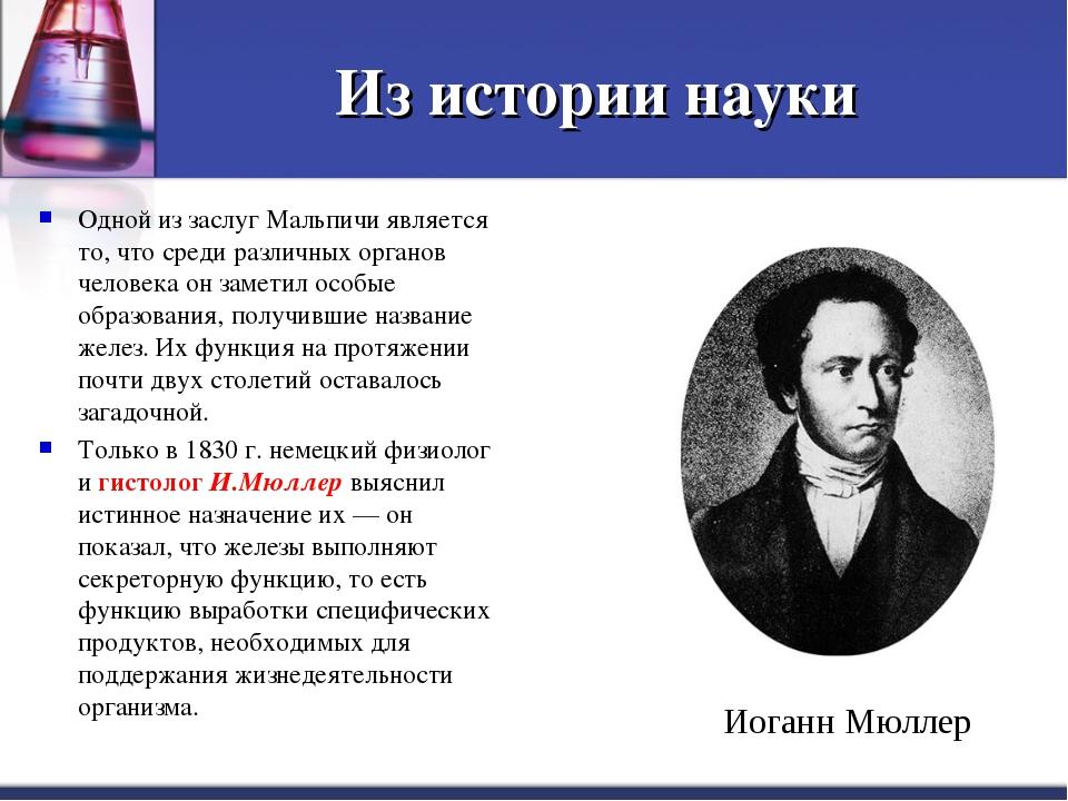 Из истории науки Одной из заслуг Мальпичи является то, что среди различных ор...