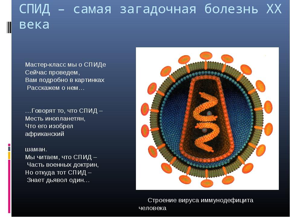 СПИД – самая загадочная болезнь XX века Мастер-класс мы о СПИДе Сейчас провед...