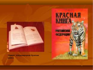 Первая международная Красная книга