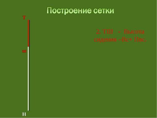 2. ТШ - Высота сидения –Вс+ Пвс.