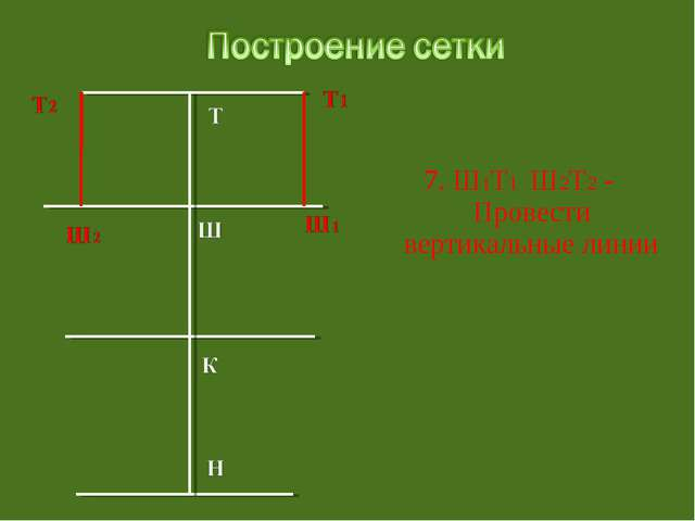7. Ш1Т1 Ш2Т2 - Провести вертикальные линии