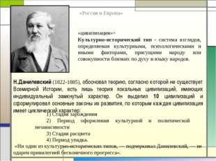 Н.Данилевский (1822-1885), обосновал теорию, согласно которой не существует В